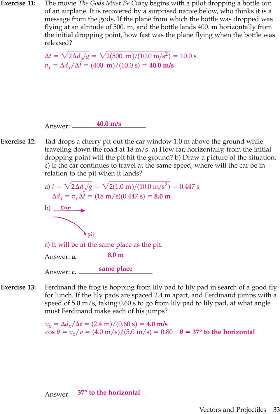 worksheet Vectors And Projectiles Worksheet 3 2 projectile motion pdf m horizontally from the initial dropping point how fast was plane flying when the