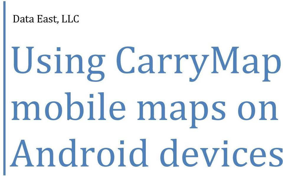 mobile maps on