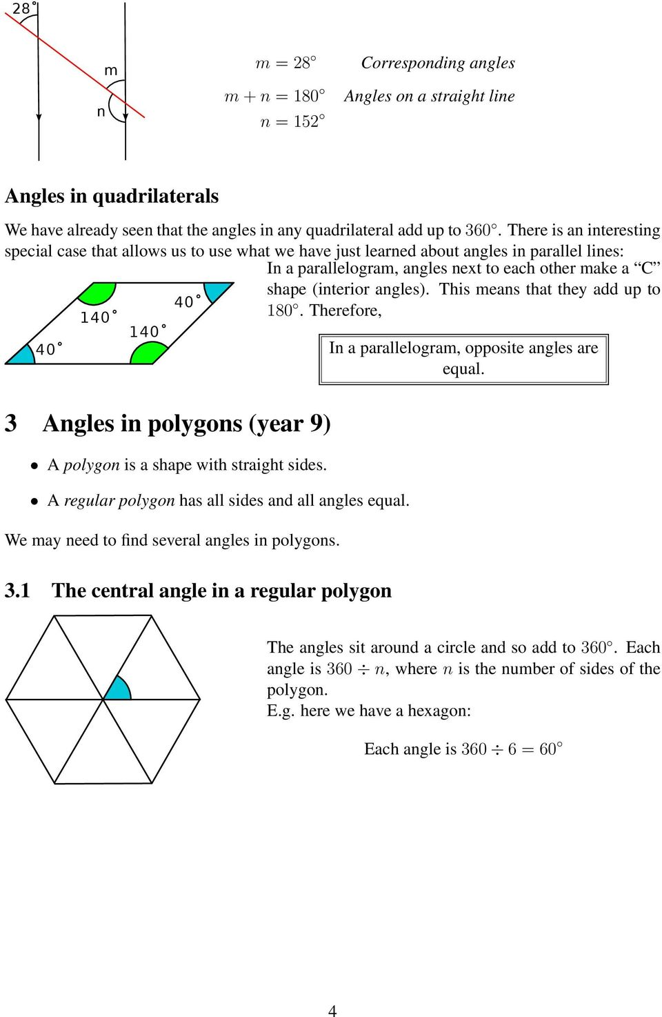 Rules of angles 7 9 pdf - Total exterior angles of a polygon ...