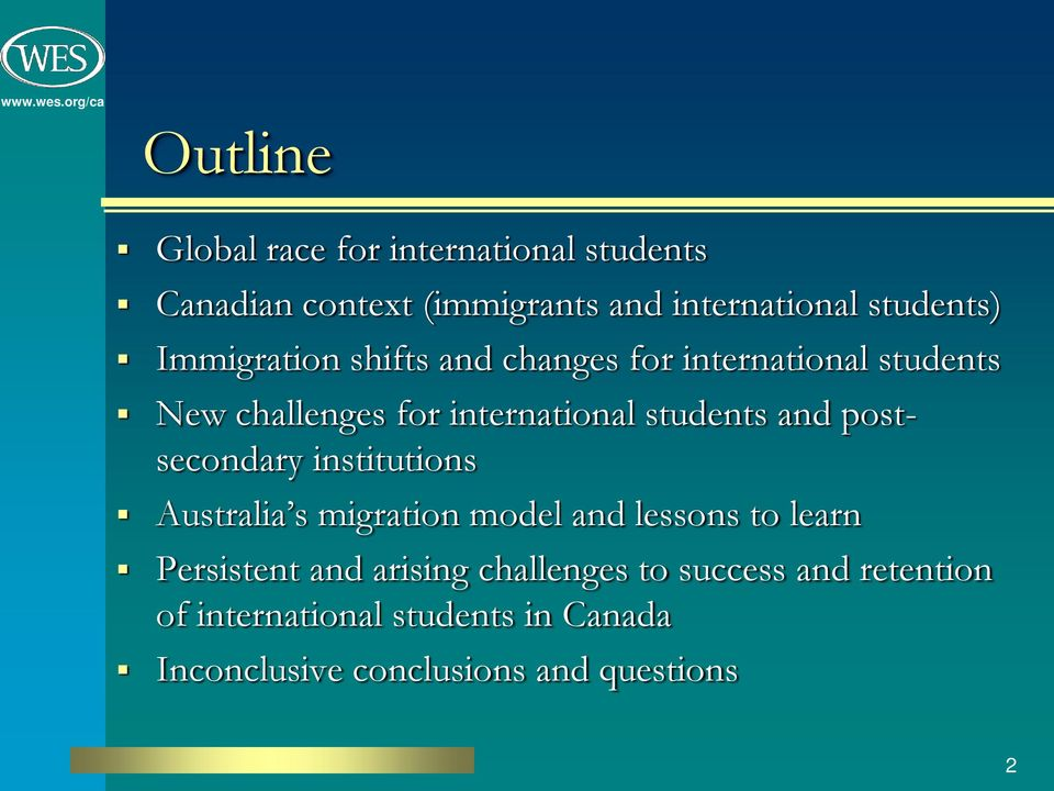 postsecondary institutions Australia s migration model and lessons to learn Persistent and arising
