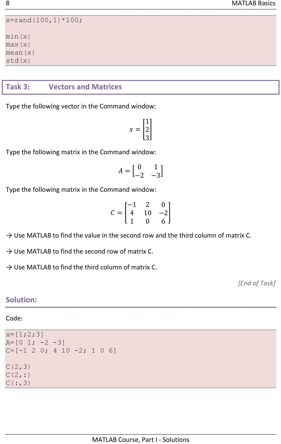 how to make a 5 by 10 matrix matlab