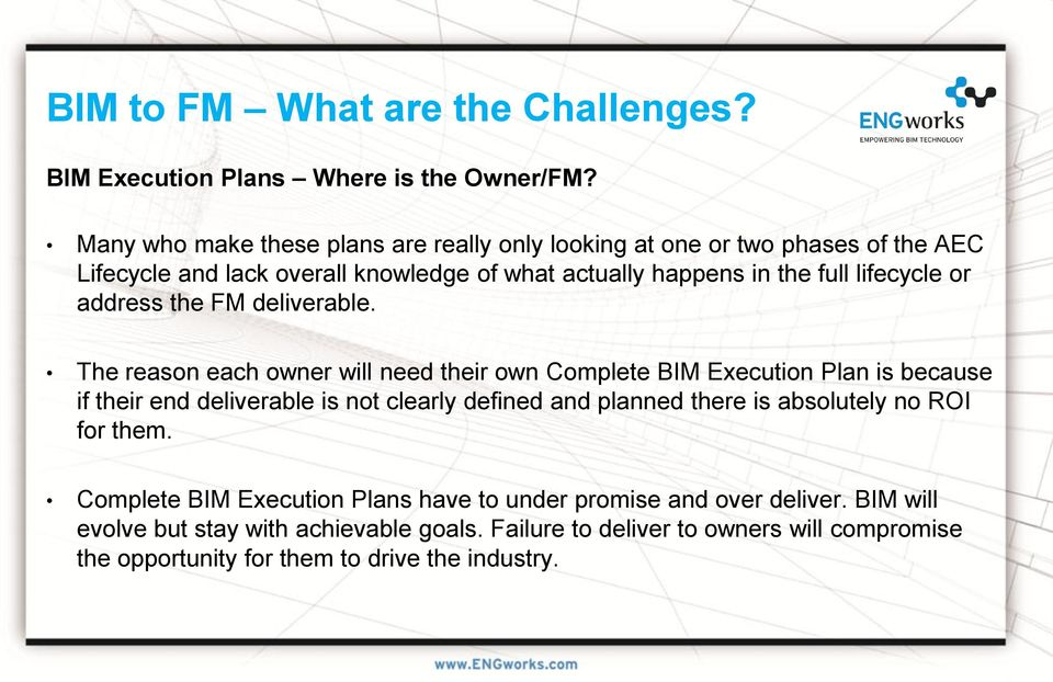 or address the FM deliverable.