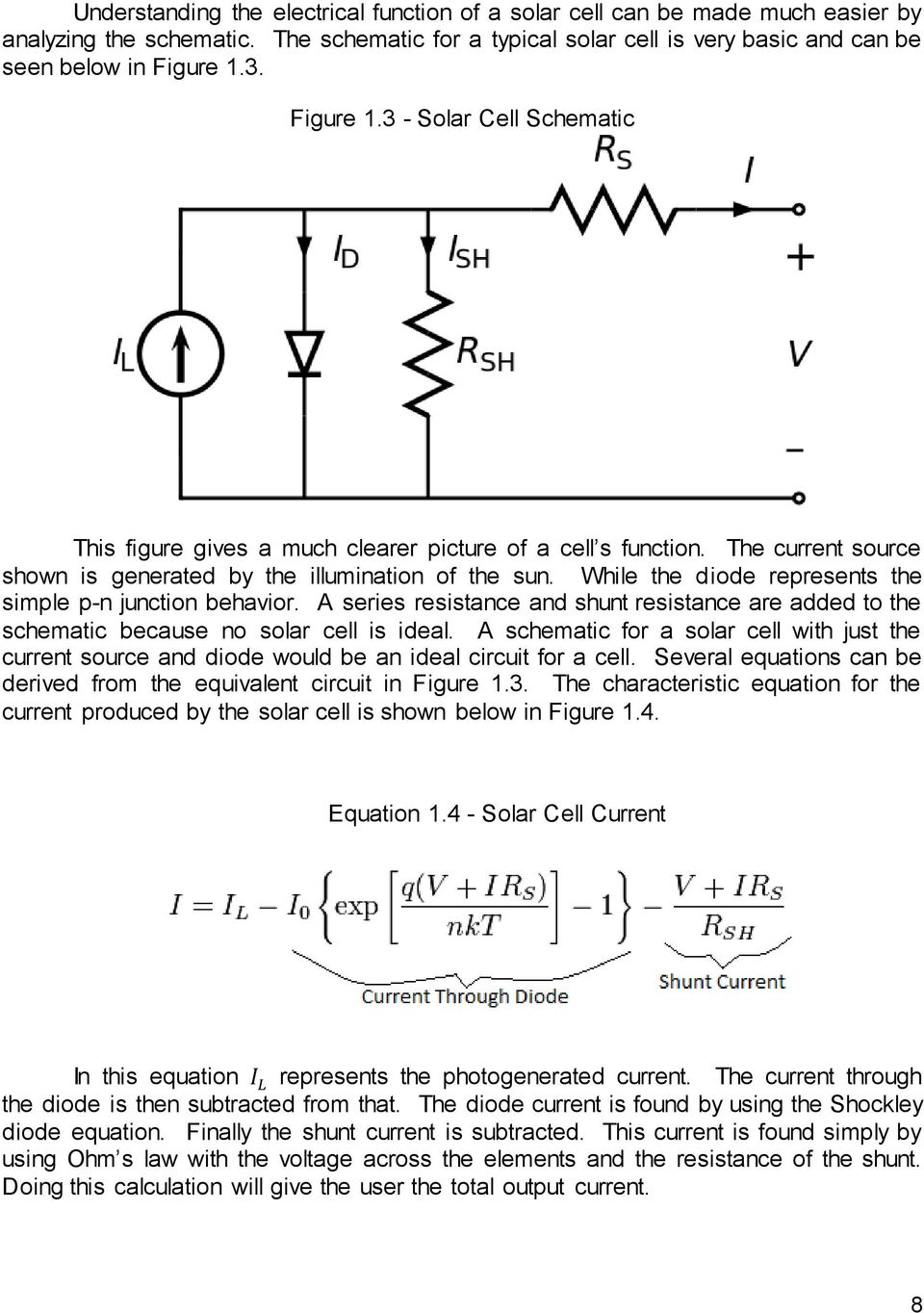 Msu Solar Car Racing Maximum Power Point Tracker Pdf Shockley Diode While The Represents Simple P N Junction Behavior A Series Resistance And Shunt