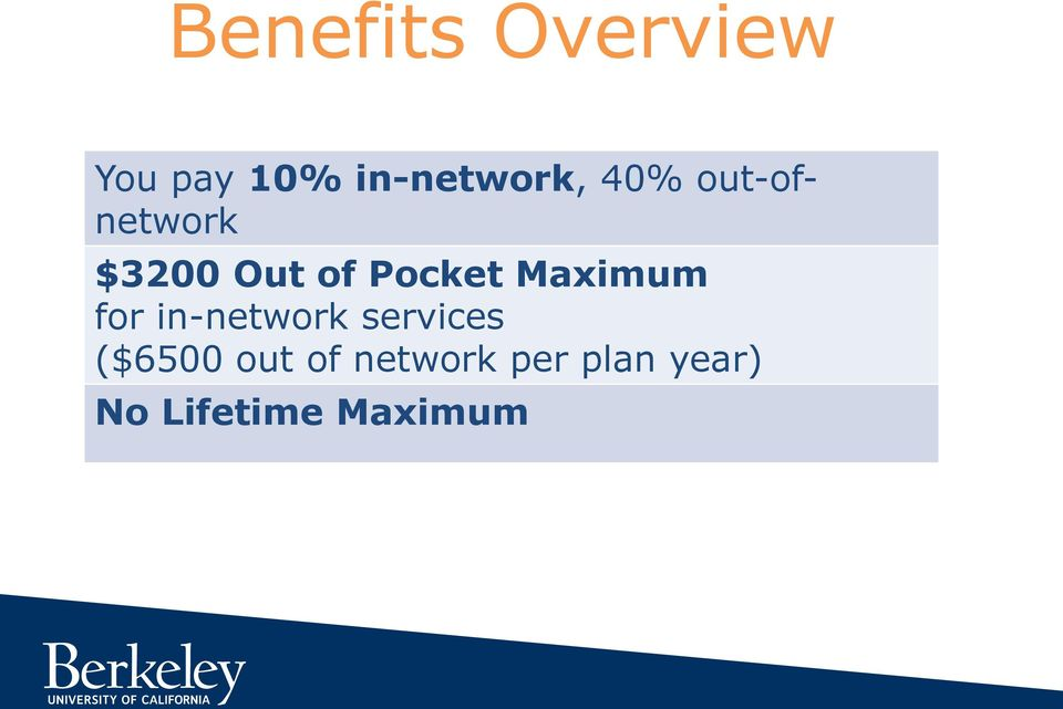 Maximum for in-network services ($6500