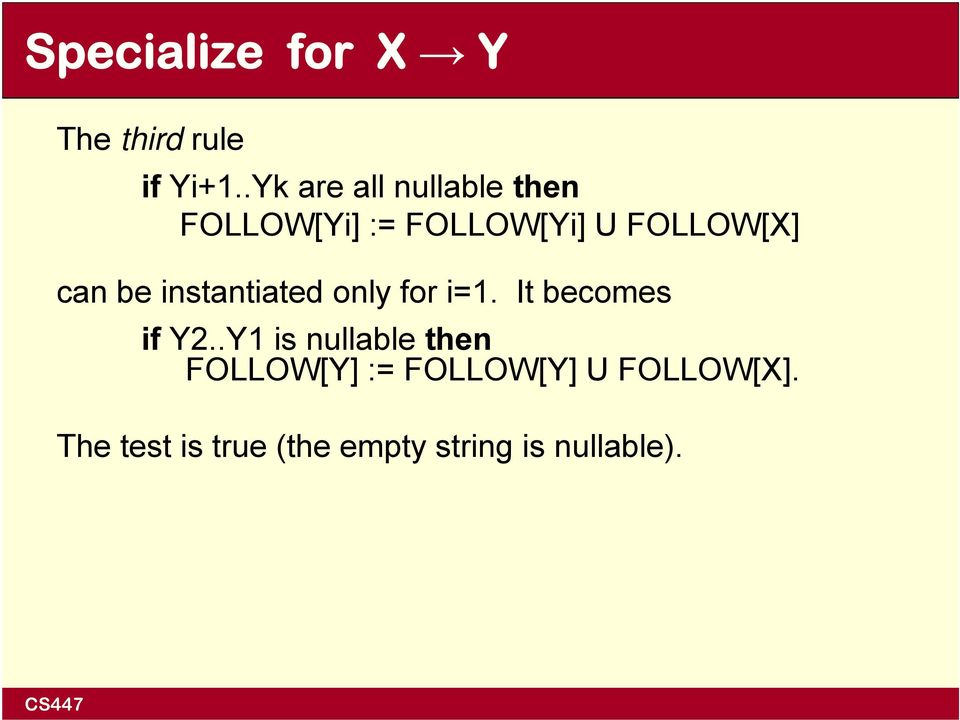 can be instantiated only for i=1. It becomes if Y2.