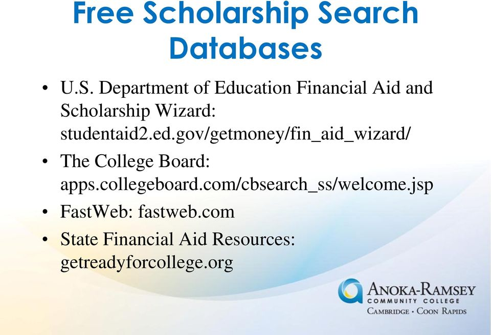 arch Databases U.S.