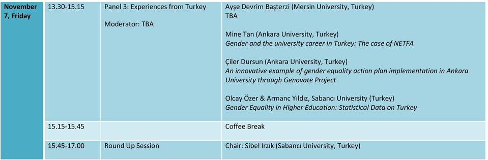 the university career in Turkey: The case of NETFA Çiler Dursun (Ankara University, Turkey) An innovative example of gender equality action plan