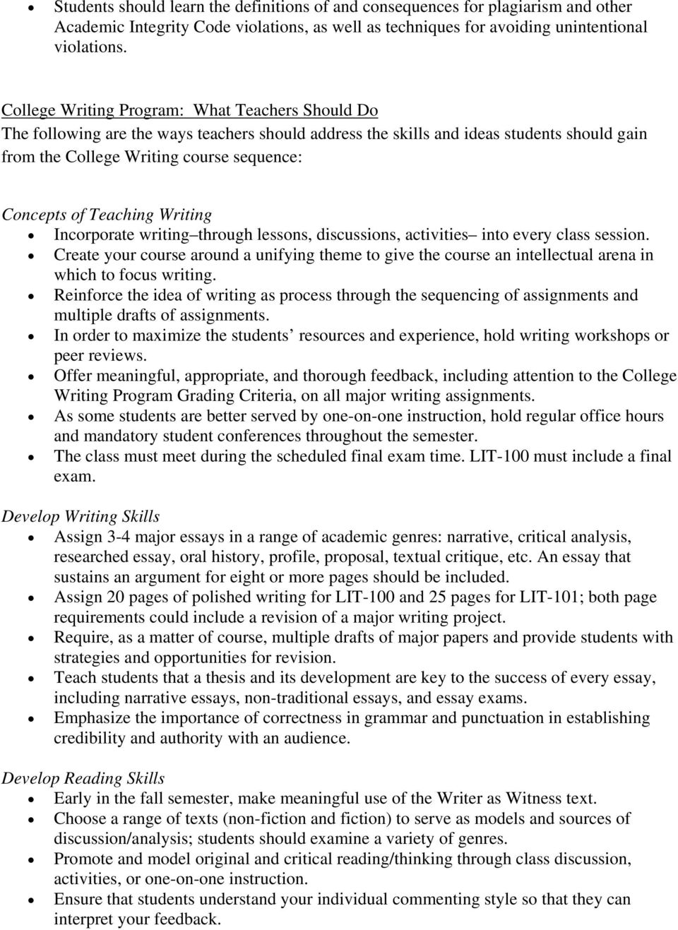 Teaching Writing Incorporate writing through lessons, discussions, activities into every class session.