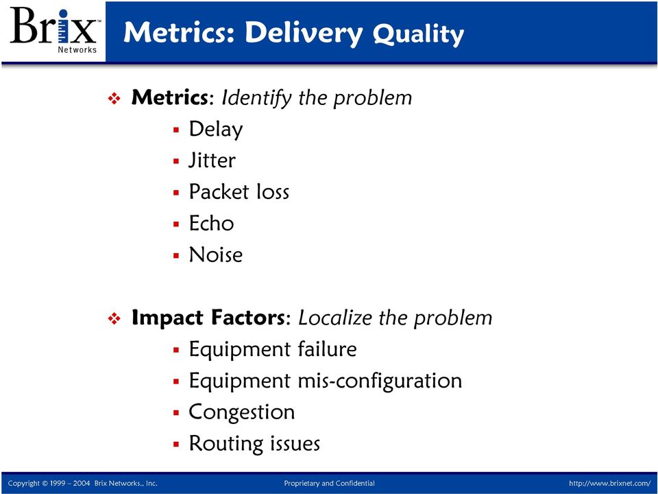 Impact Factors: Localize the problem Equipment