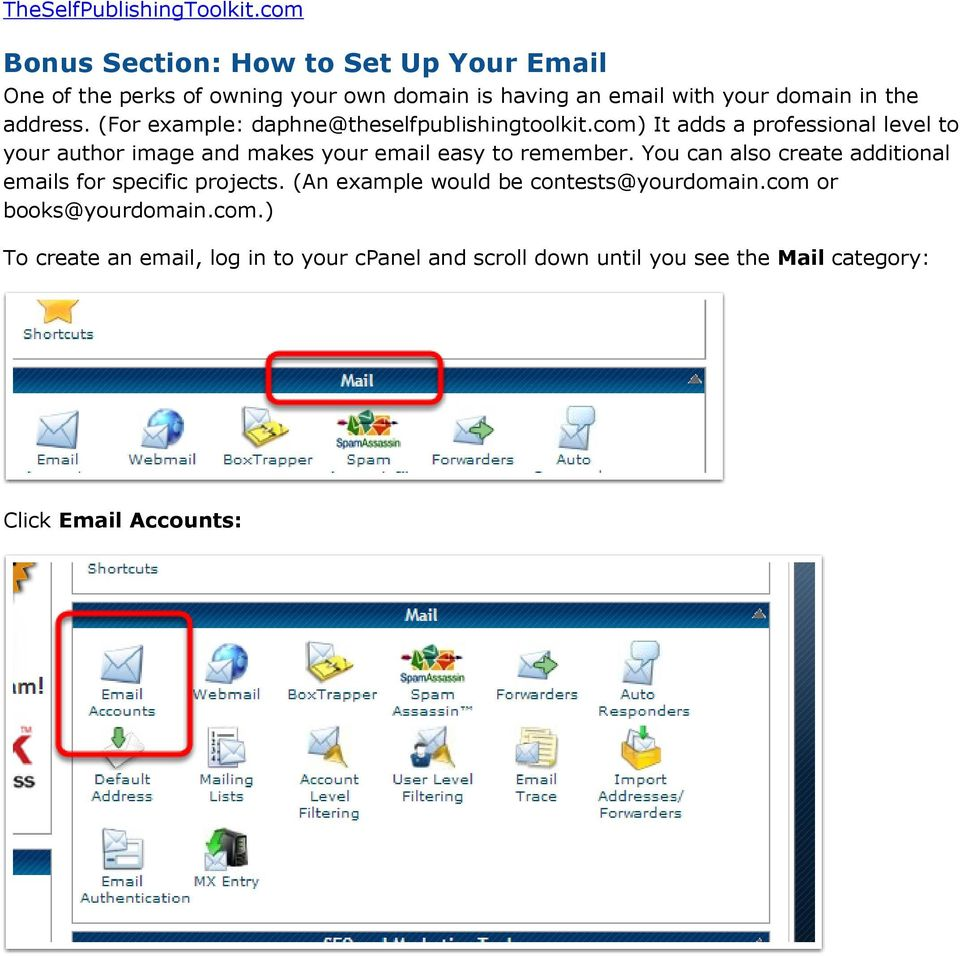 com) It adds a professional level to your author image and makes your email easy to remember.