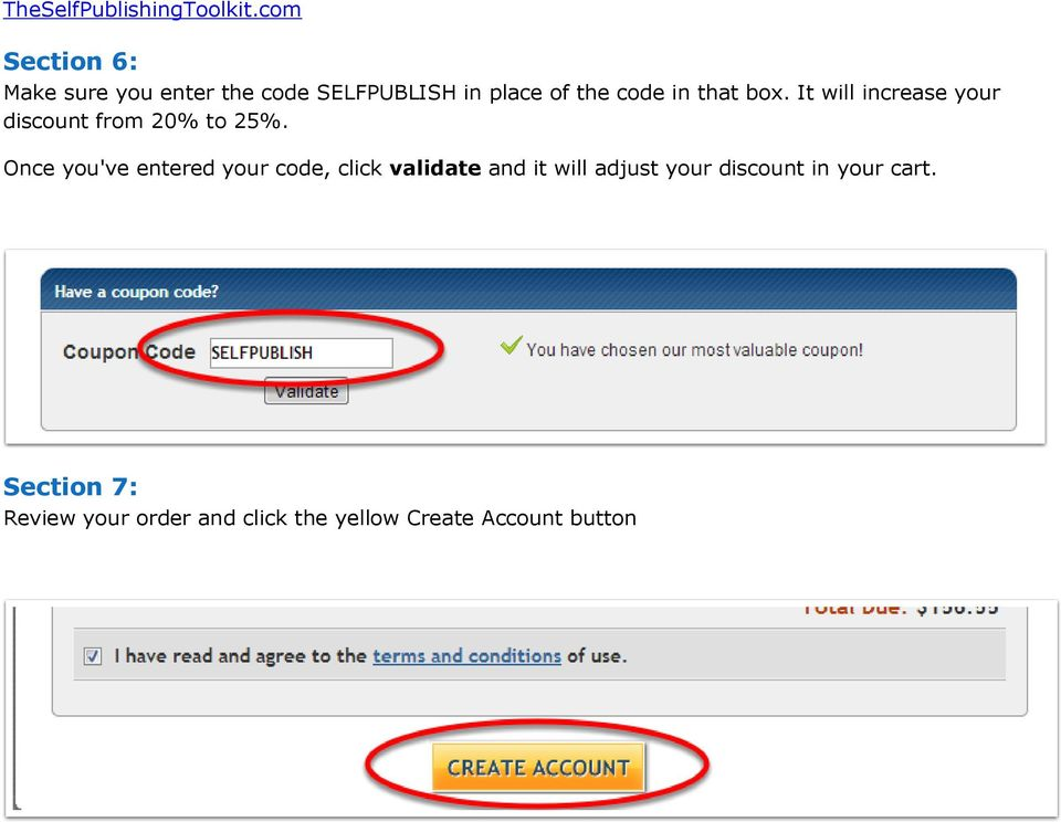 Once you've entered your code, click validate and it will adjust your