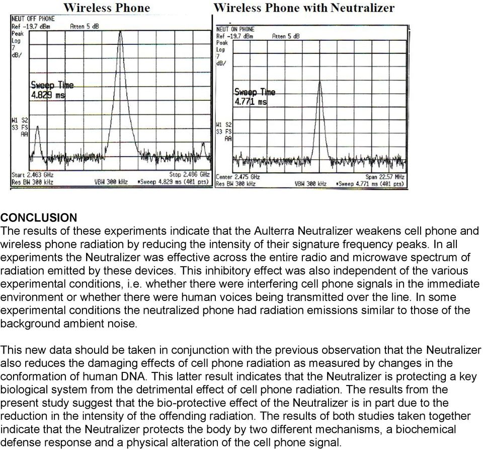 This inhibitory effect was also independent of the various experimental conditions, i.e. whether there were interfering cell phone signals in the immediate environment or whether there were human voices being transmitted over the line.