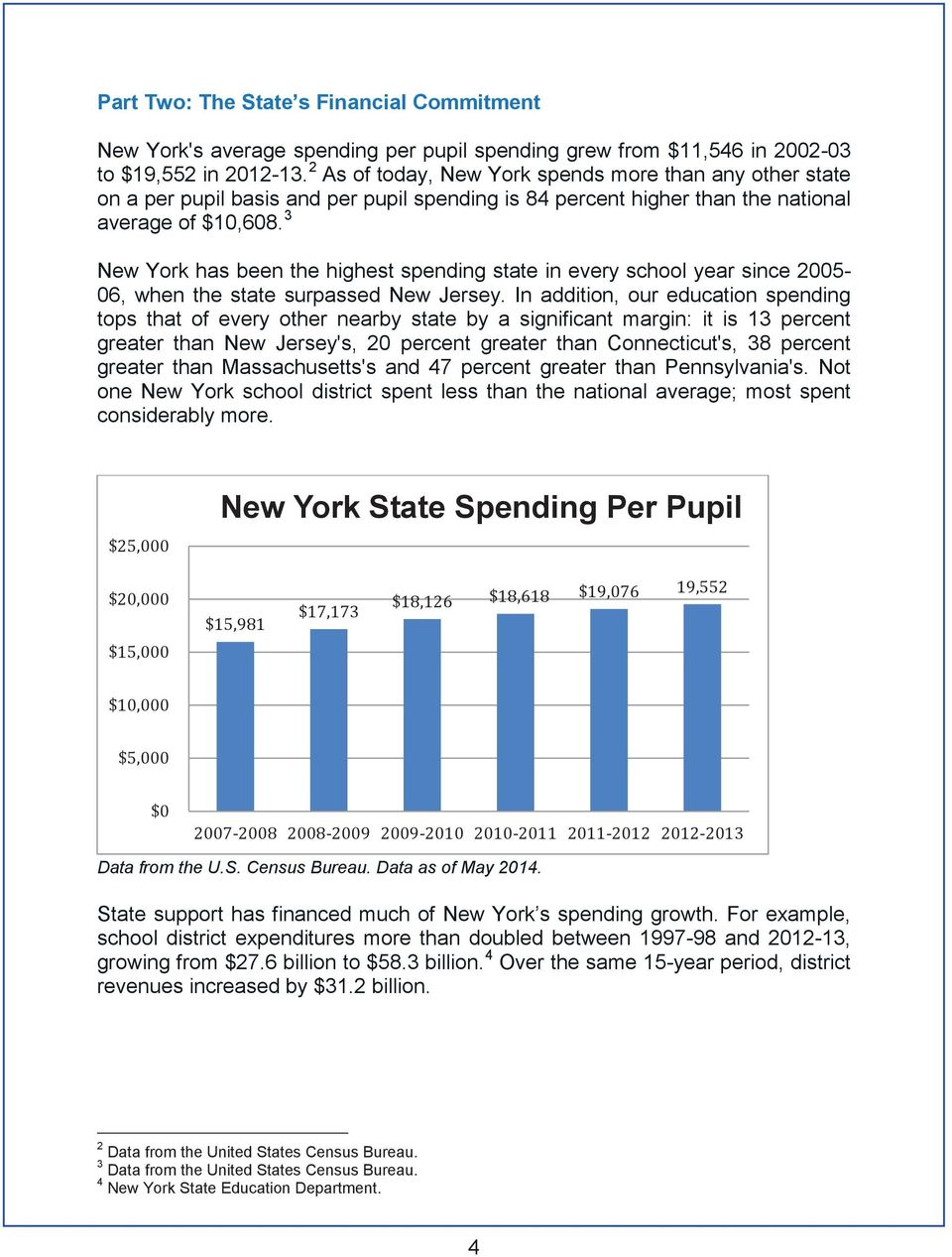 3 New York has been the highest spending state in every school year since 2005-06, when the state surpassed New Jersey.