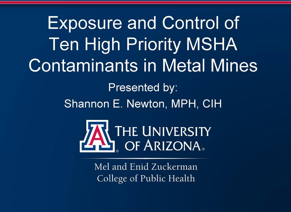 Contaminants in Metal Mines