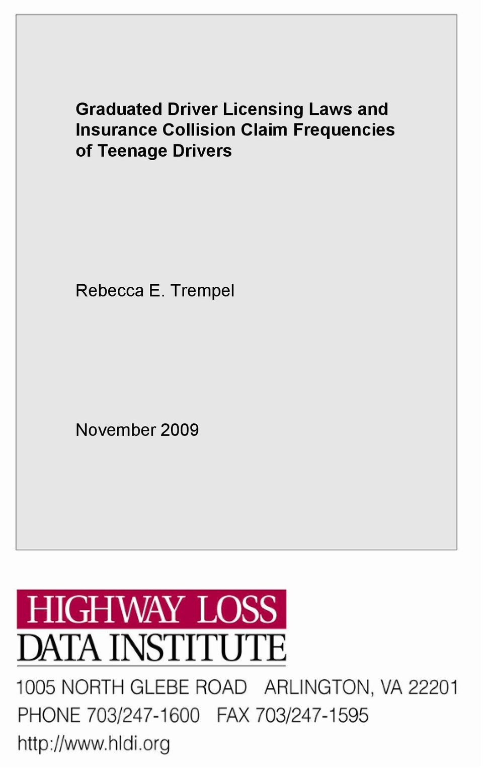 Frequencies of Teenage Drivers
