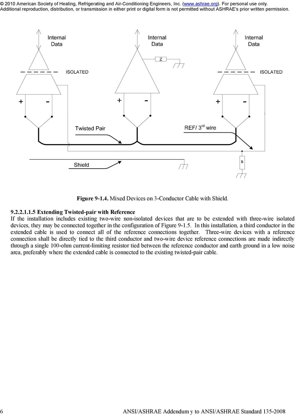 Ashrae Standard Bacnet A Data Communication Protocol For Building Cat5e Wiring Michael Diagram Reference 15 Extending Twisted Pair With If The Installation Includes Existing Two Wire Non
