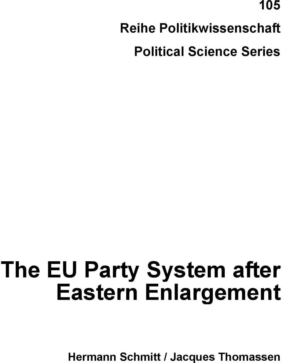 Party System after Eastern