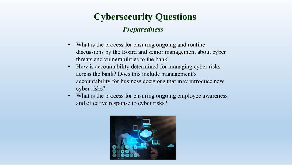 How is accountability determined for managing cyber risks across the bank?