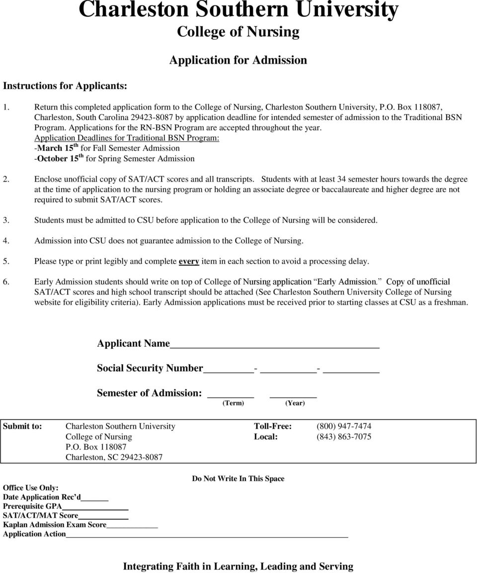 Applications for the RN-BSN Program are accepted throughout the year.