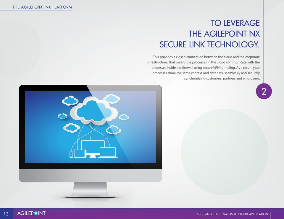 That means the processes in the cloud communicate with the processes inside the firewall using secure VPN tunneling.
