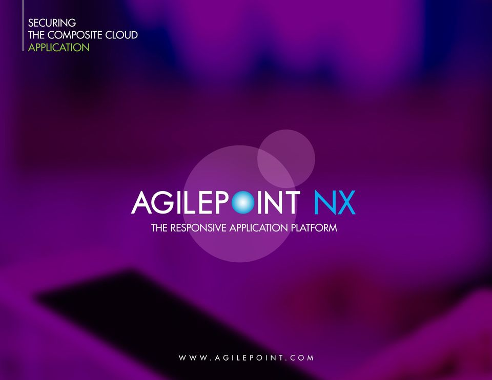 APPLICATION PLATFORM WWW.AGILEPOINT.