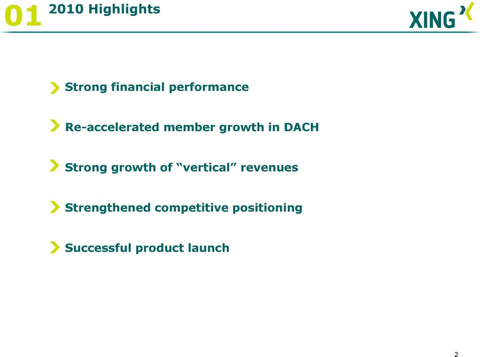 DACH Strong growth of vertical revenues