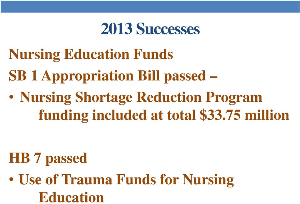 Reduction Program funding included at total $33.