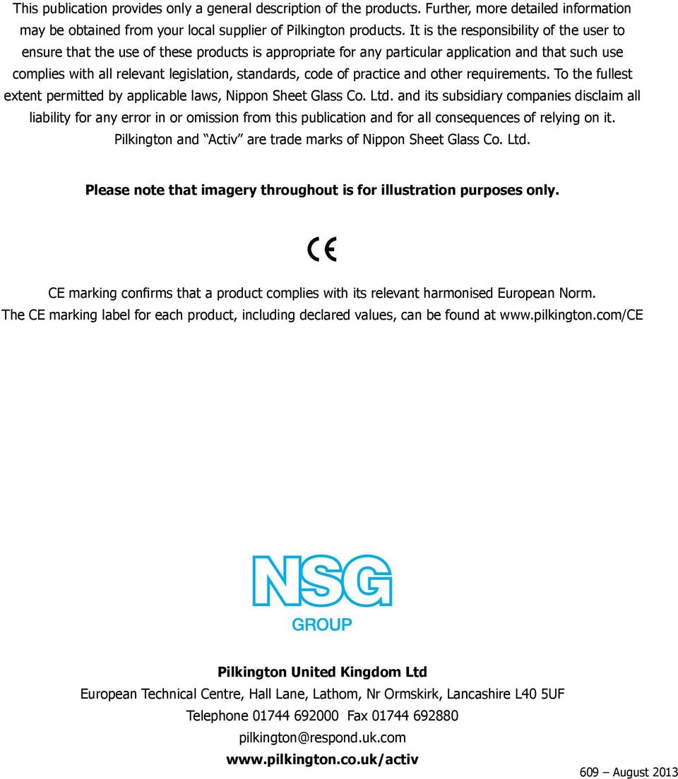 of practice and other requirements. To the fullest extent permitted by applicable laws, Nippon Sheet Glass Co. Ltd.