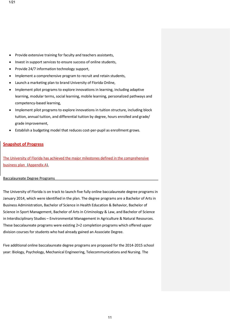Advisory Board for the Institute for Online Learning - PDF