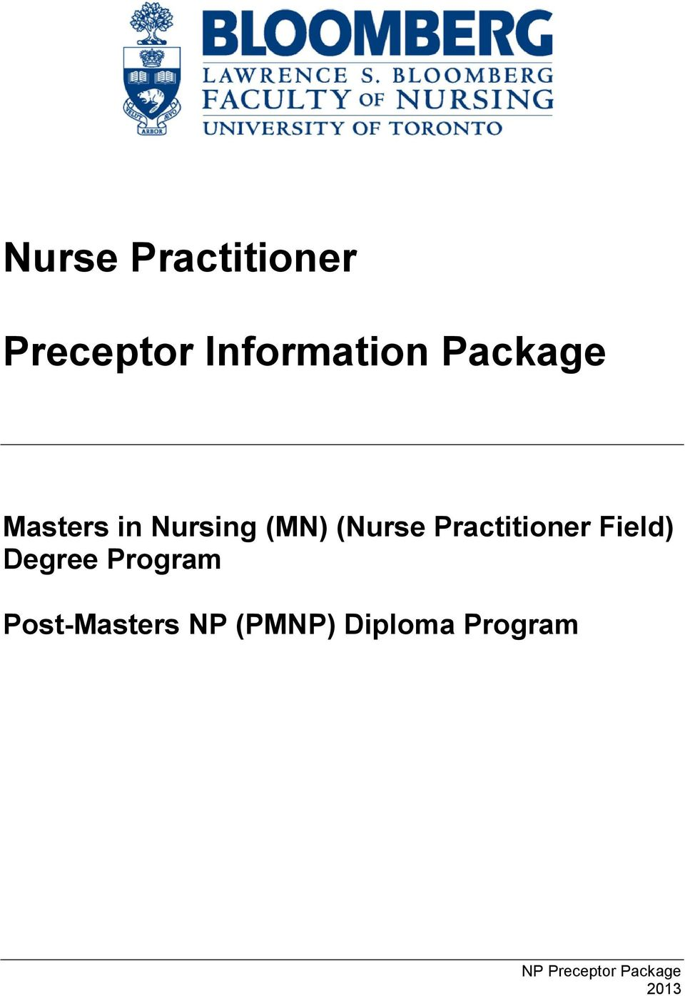 (MN) (Nurse Practitioner Field) Degree