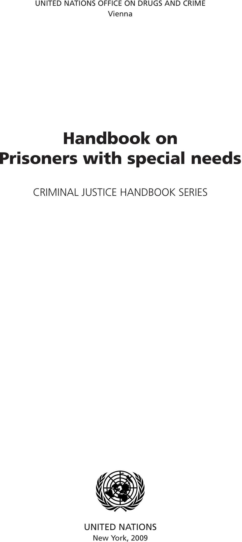 with special needs CRIMINAL JUSTICE