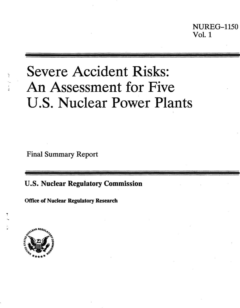 Nuclear Power Plants NUREG-1150 Vol.