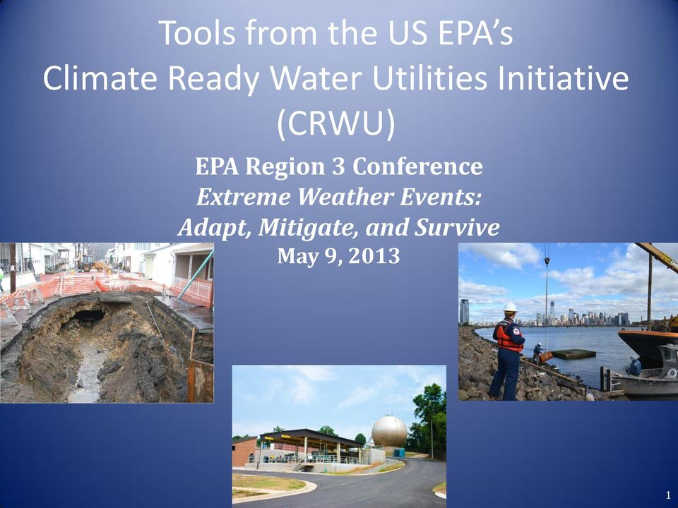 Region 3 Conference Extreme Weather