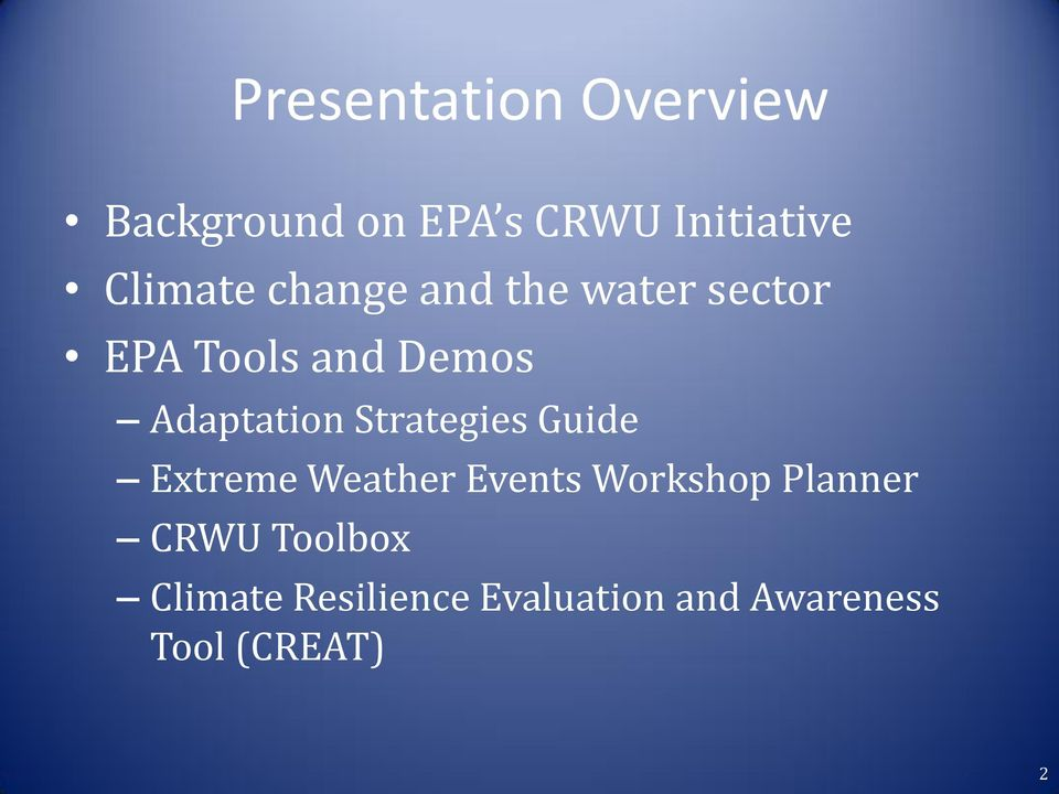 Adaptation Strategies Guide Extreme Weather Events Workshop