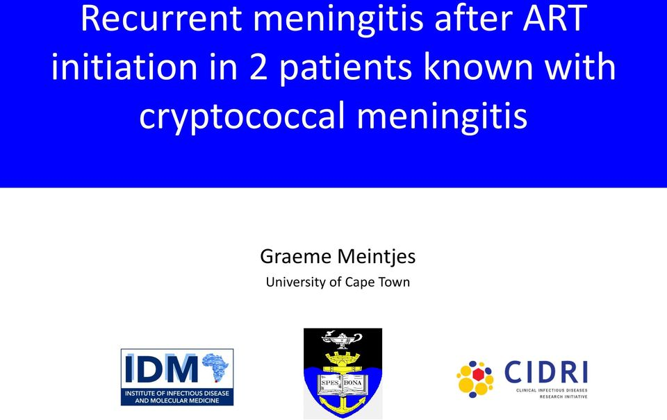 with cryptococcal meningitis