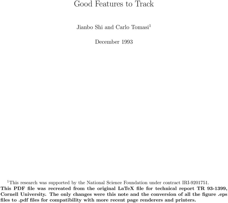 This PDF file was recreated from the original LaTeX file for technical report TR 93-1399, Cornell