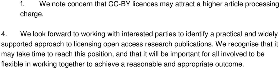 licensing open access research publications.