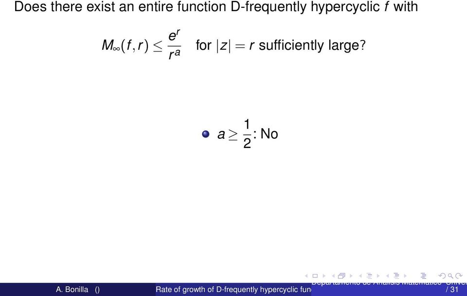 hypercyclic f with M (f,r) er