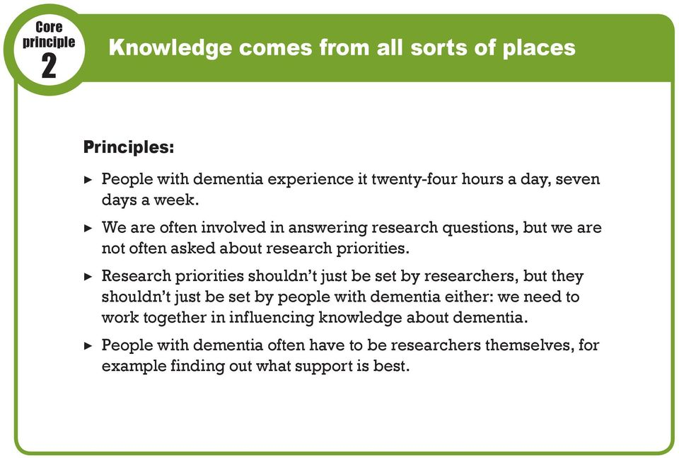 Research priorities shouldn t just be set by researchers, but they shouldn t just be set by people with dementia either: we need to