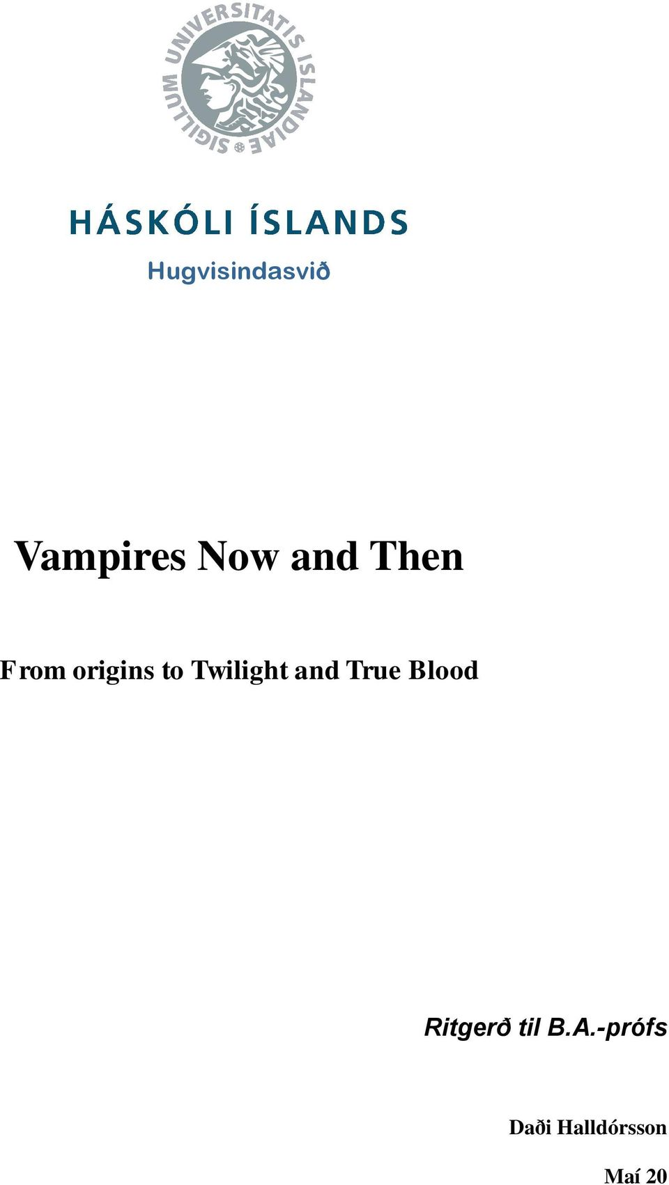 Twilight and True Blood