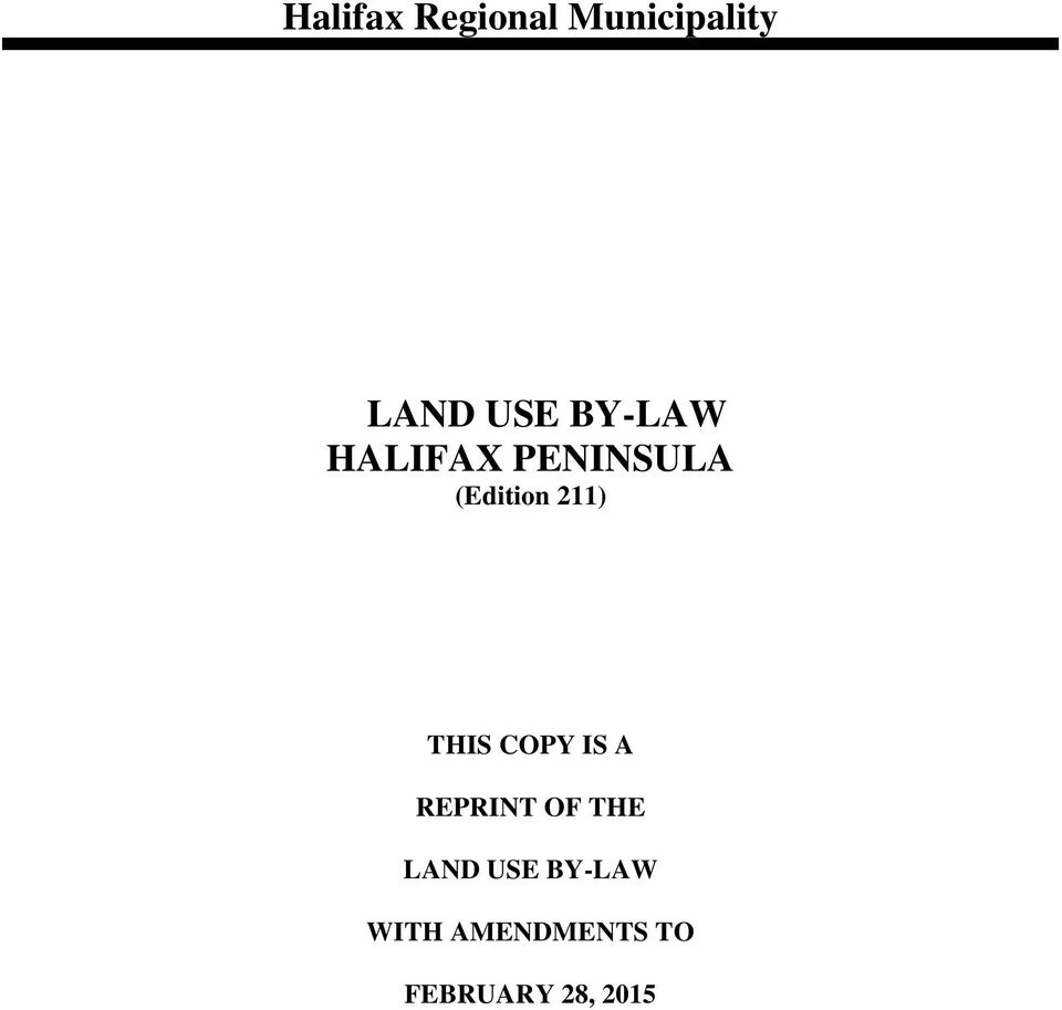 THIS COPY IS A REPRINT OF THE LAND USE