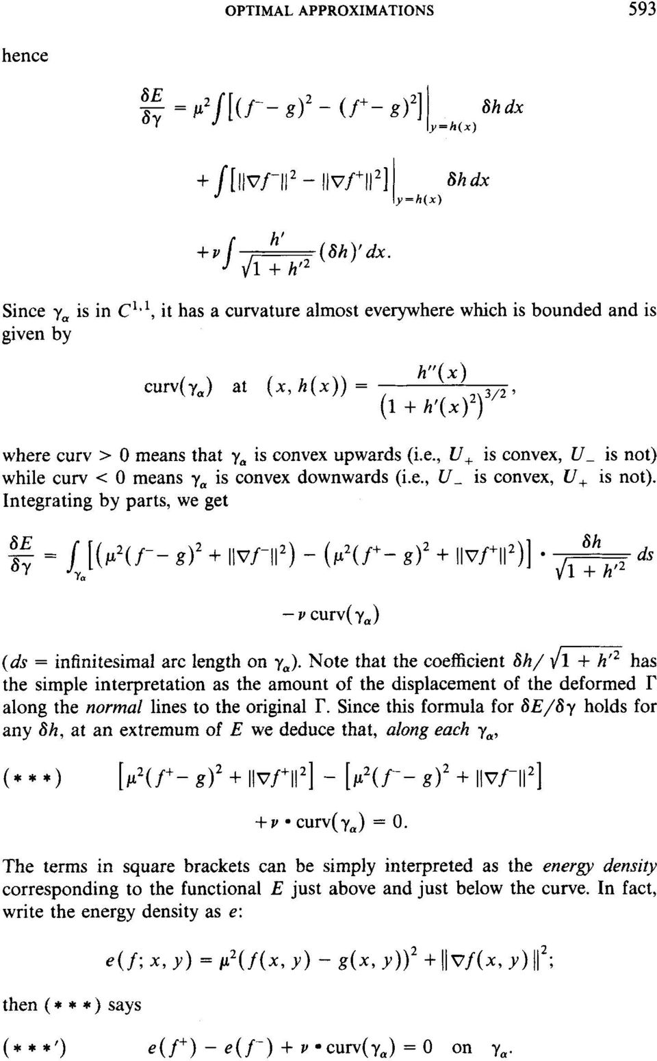 e., U- is convex, U, is not). Integrating by parts, we get (ds = infinitesimal arc length on y,).