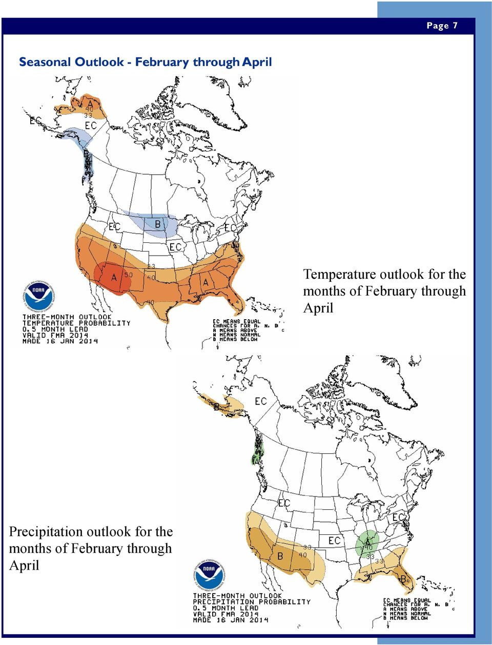 of February through April Precipitation