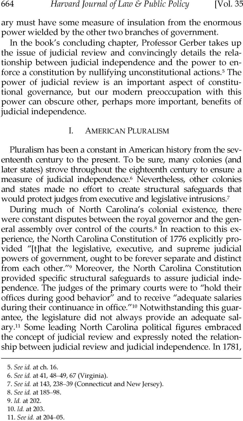 constitution by nullifying unconstitutional actions.