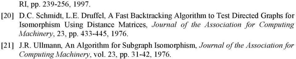 Distance Matrices, Journal of the Association for Computing Machinery, 23, pp.