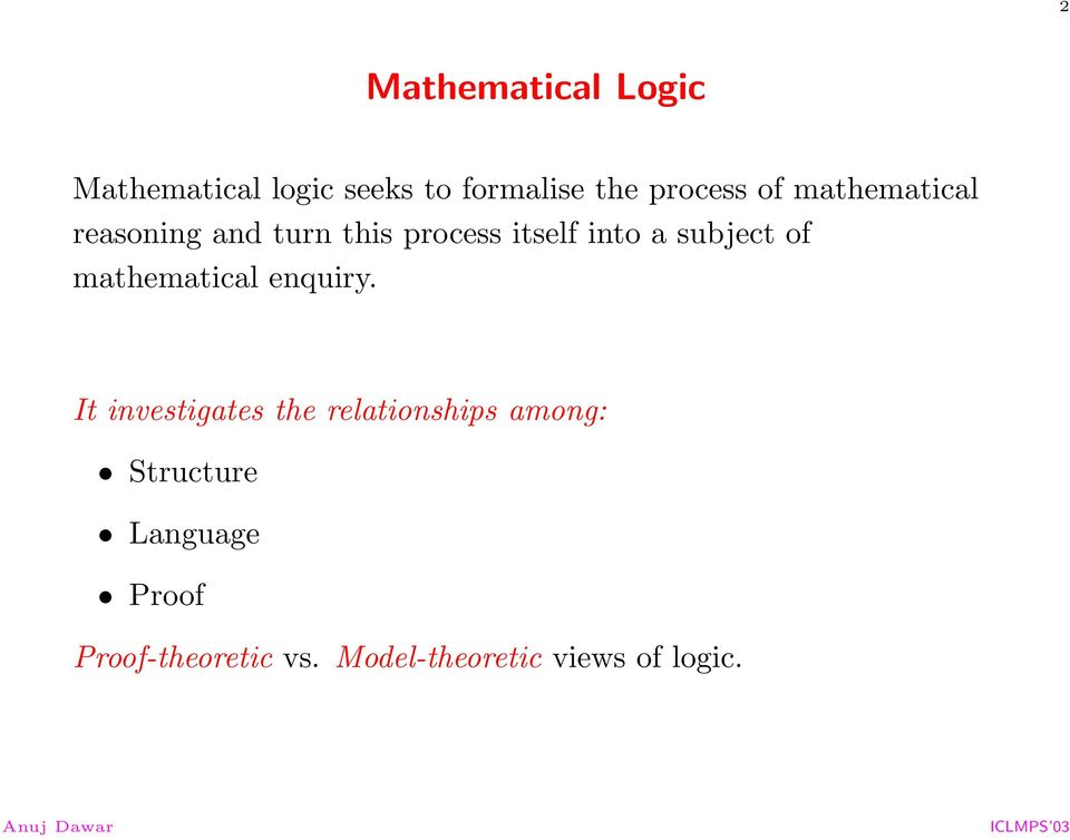 of mathematical enquiry.