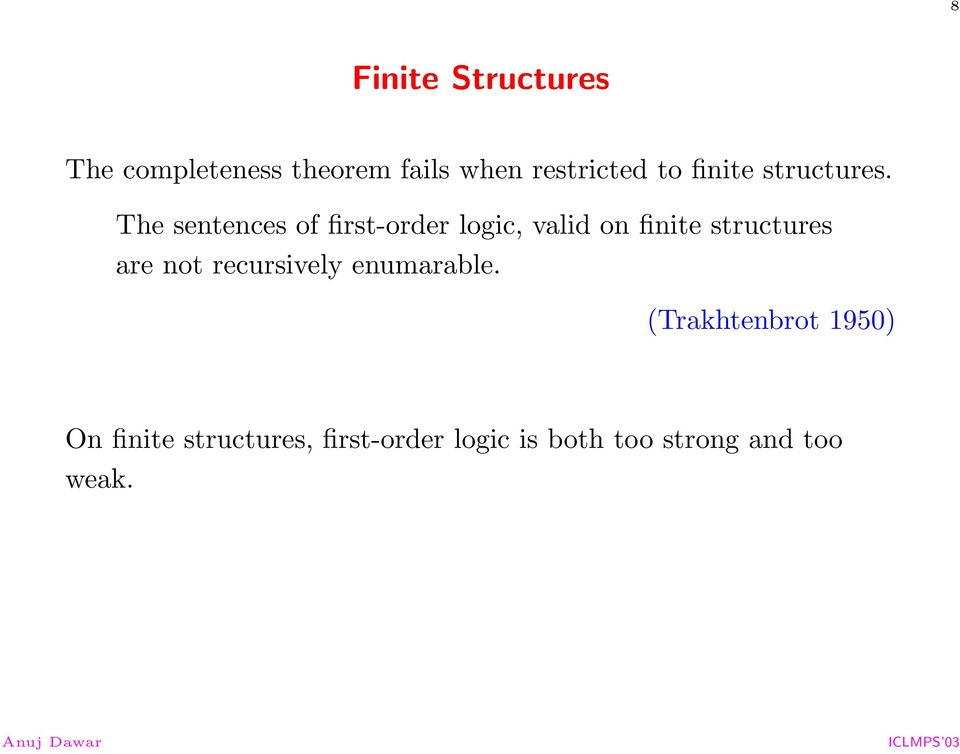 The sentences of first-order logic, valid on finite structures are