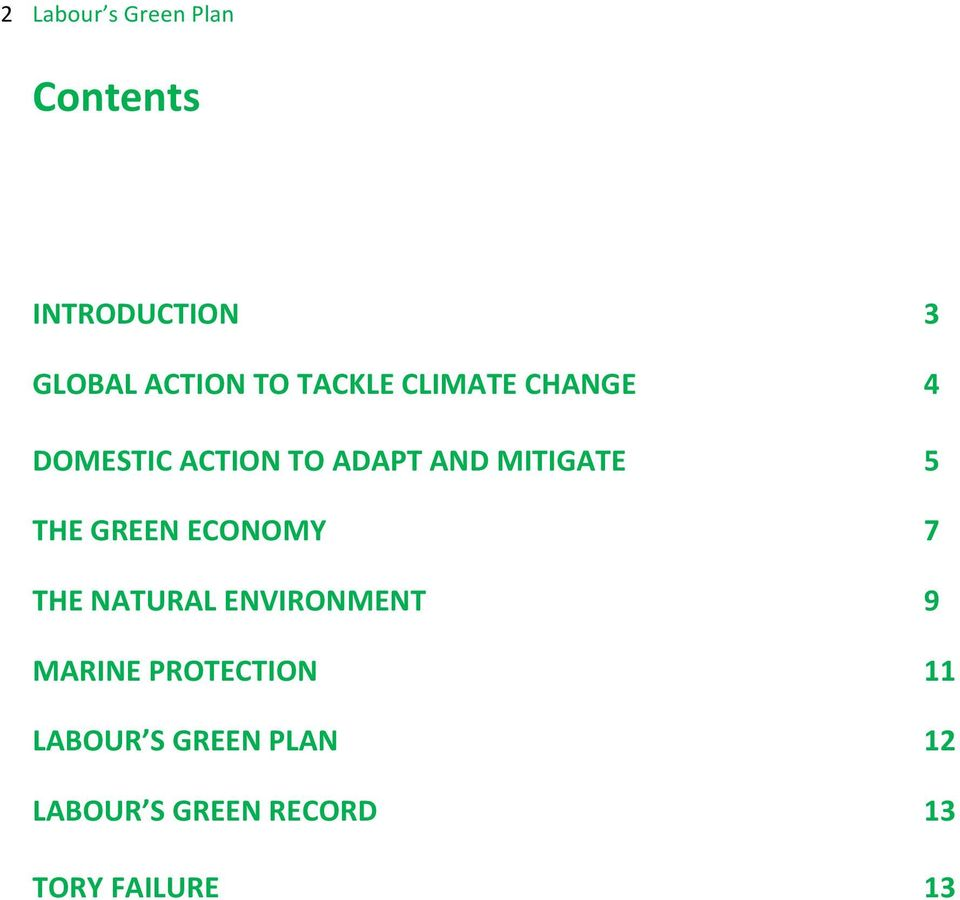 GREEN ECONOMY THE NATURAL ENVIRONMENT MARINE PROTECTION LABOUR S