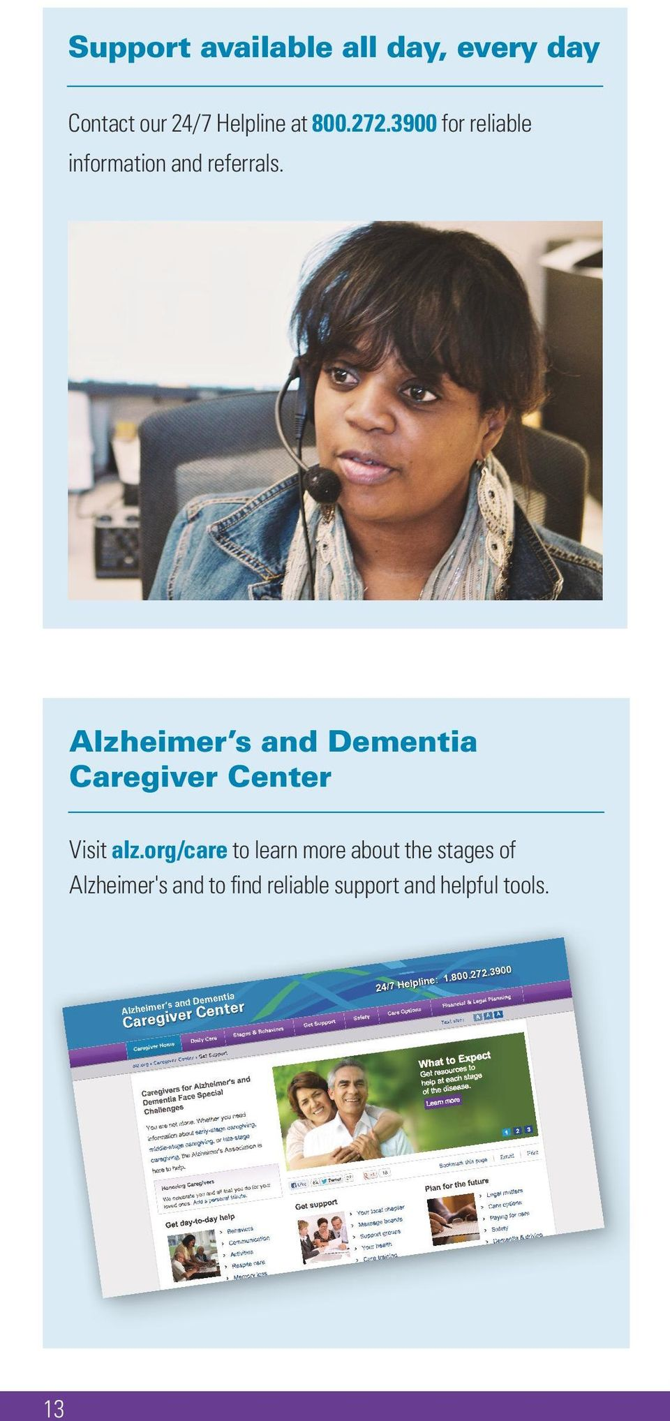Alzheimer s and Dementia Caregiver Center Visit alz.