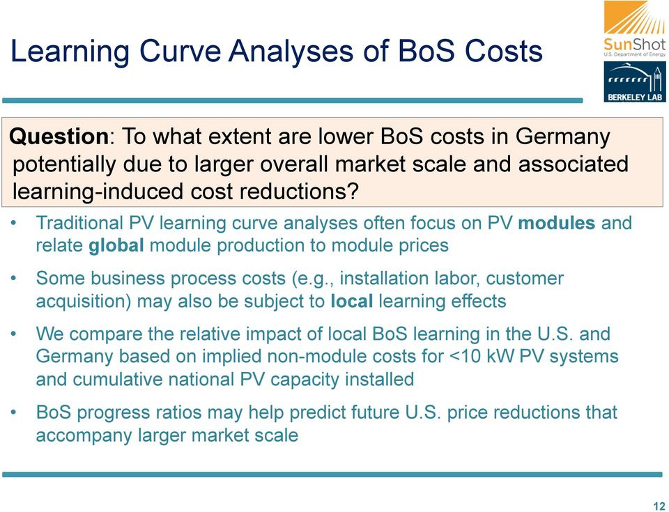curve analyses often focus on PV modules and relate gl